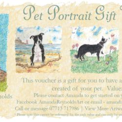 Pet Portrait Gift Vouchers are now available to purchase through the website or on Facebook.