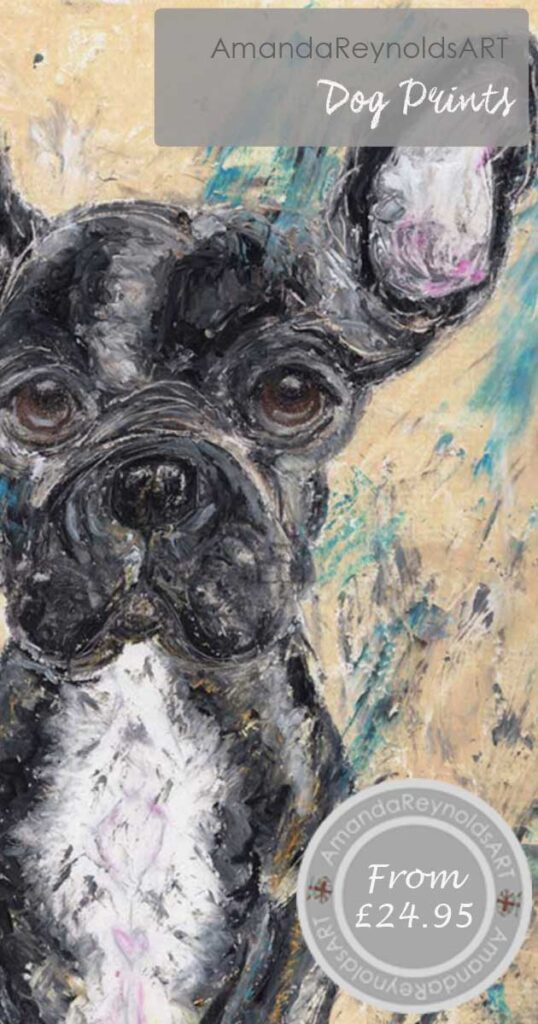 A range of prints created in textured oil pastels of a variety of dog breeds. Can be personalised too.